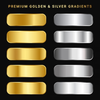 Premium golden & sliver gradient pack