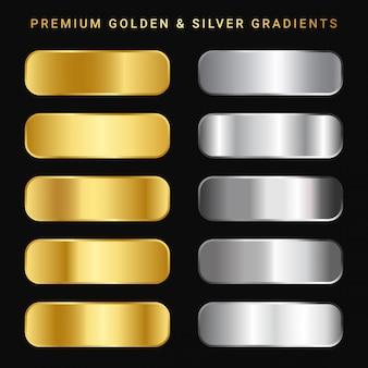 Премиальный золотой и серебряный градиентный пакет