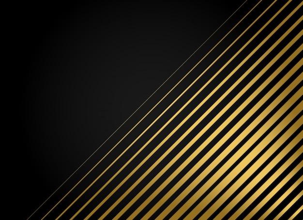Sfondo vettoriale premium strisce dorate