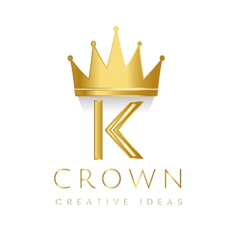 Premium K crown brand vector