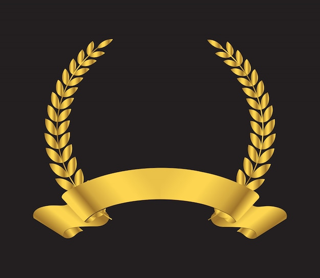 Premium laurel wreath icon