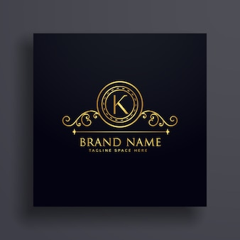 Premium letter K brand logo concept design