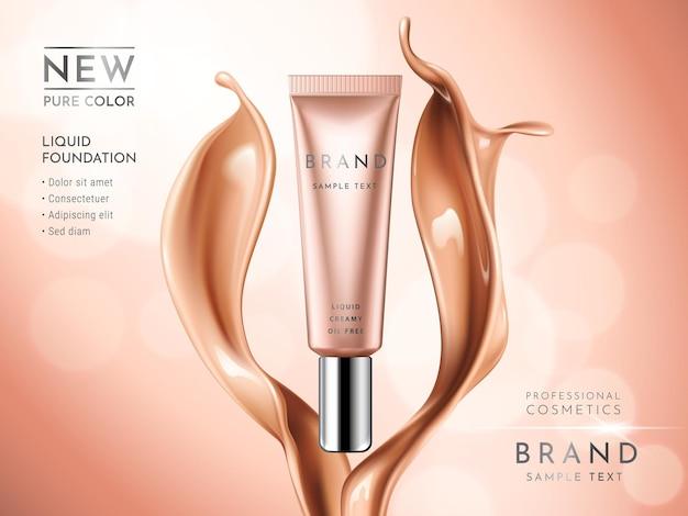 Premium liquid foundation ads.