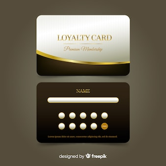 Премиальная карта лояльности с золотым стилем