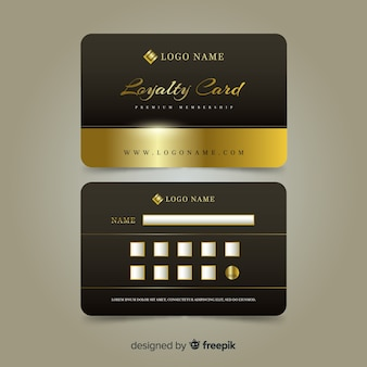 Premium loyalty card with golden style
