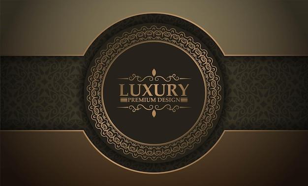 Premium luxury circle border background concept