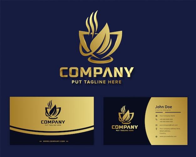 비즈니스 회사를위한 프리미엄 고급 커피 로고