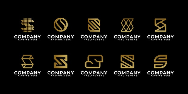 Premium luxury creative letter s logo for company and business logo design