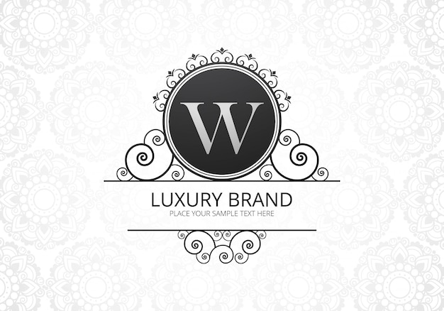 Premium luxury creative letter w logo for company