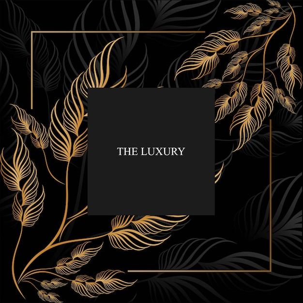 Premium luxury floral background
