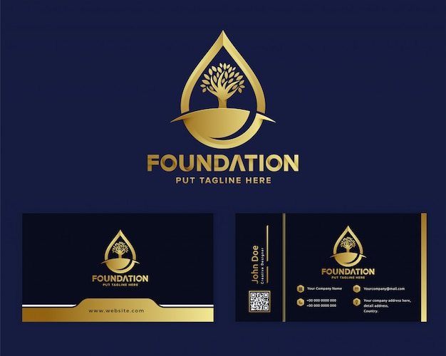 Premium luxury foundation logo template