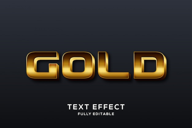 Premium luxury gold text effect