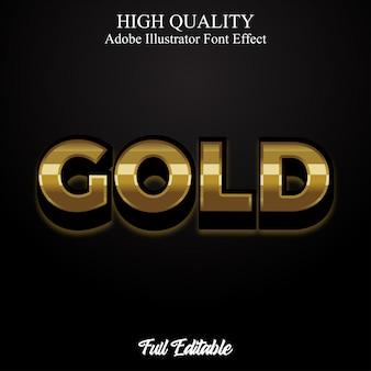 Premium luxury gold text style editable font effect