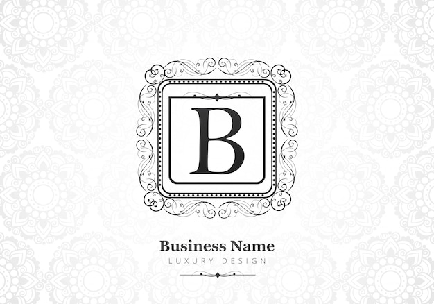 Premium luxury letter b logo for company