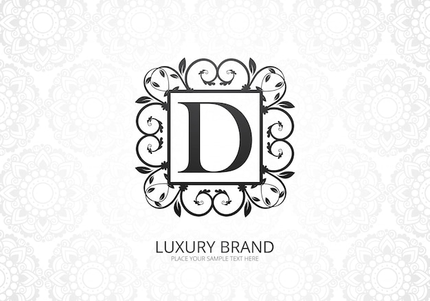 Premium luxury letter d logo for company