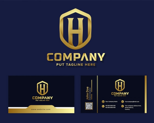 Premium luxury letter initial h logo template for company