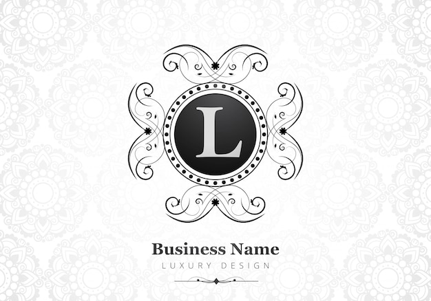 Premium luxury letter l logo for company