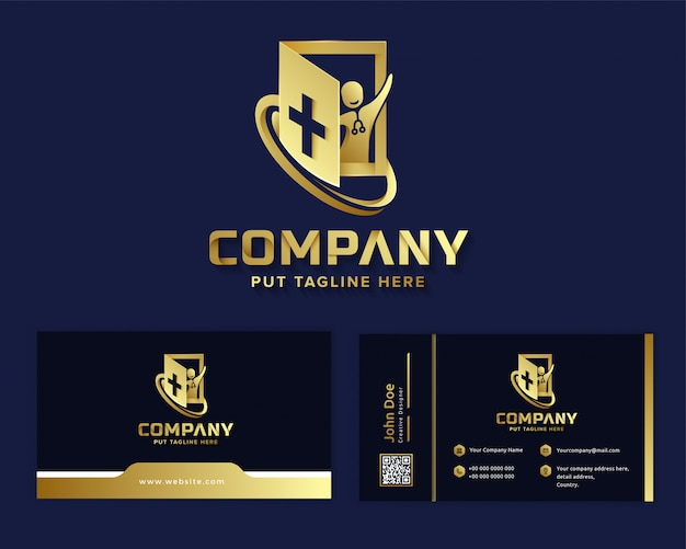 Premium luxury medical hospital logo template for company
