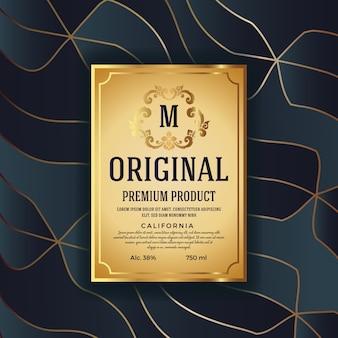 Premium luxury packaging design with heraldic emblem label