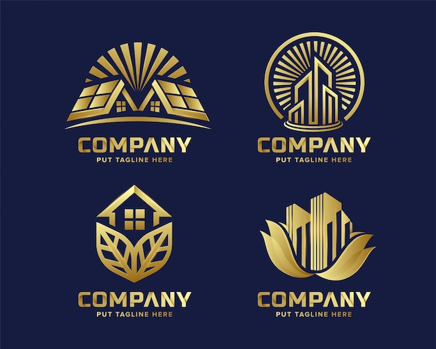 Premium luxury real estate logo collection