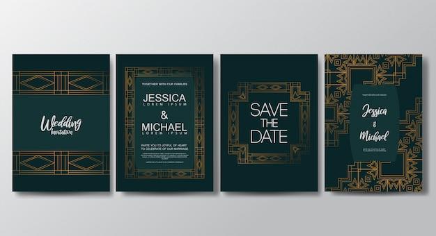 Premium luxury wedding invitation cards template
