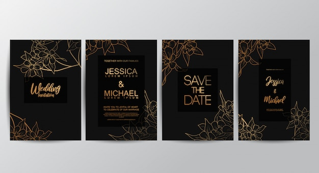 Premium luxury wedding invitation cards
