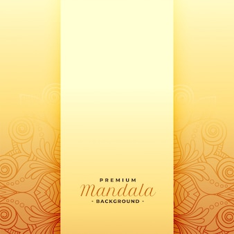 Premium mandala golden pattern