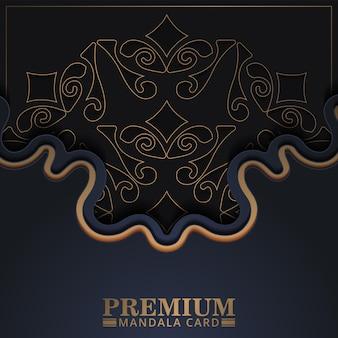 Premium mandala style cover and card