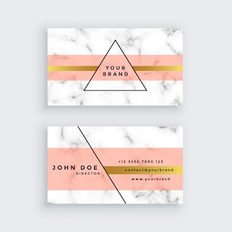 Premium marble business card design in minimal style