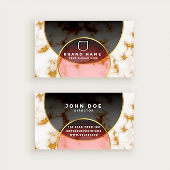 Premium marble style business card