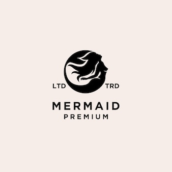 Premium mermaid vector logo illustration design