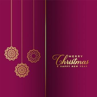 Premium merry christmas golden background