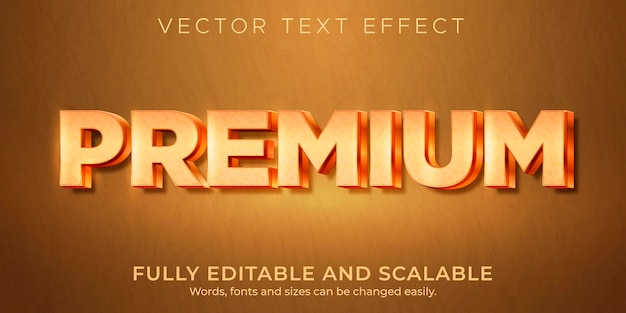 Premium metallic text effect, editable shiny and rich text style