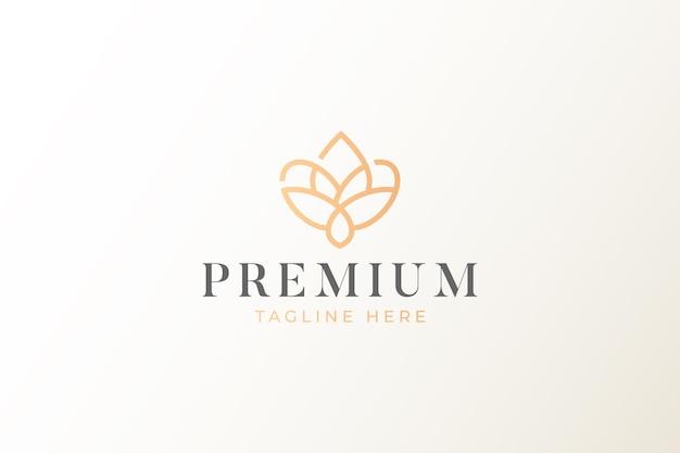 프리미엄 자연 기하학적 모양 로고