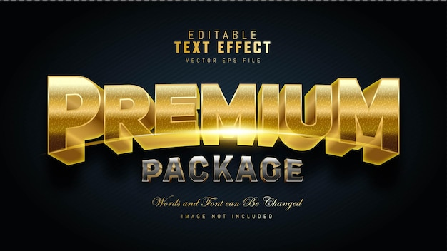 Premium package text effect