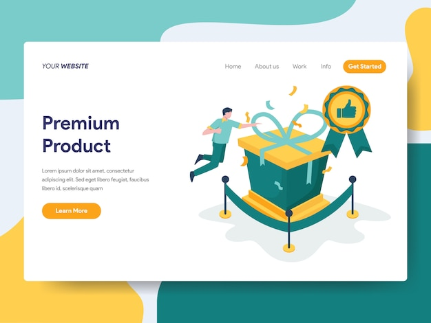 Premium product for website page