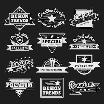 Premium quality badge vector set