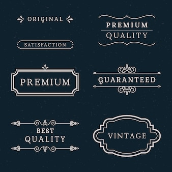Premium quality banner collection