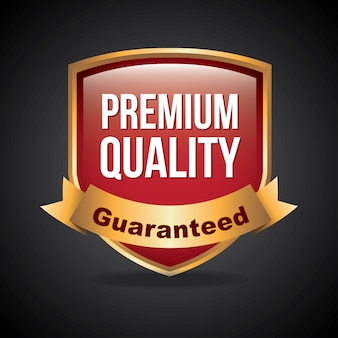 Premium quality over black background vector illustration