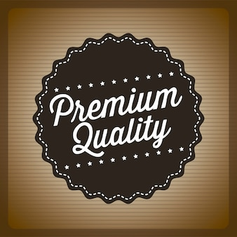 Premium quality over brown background vector illustration