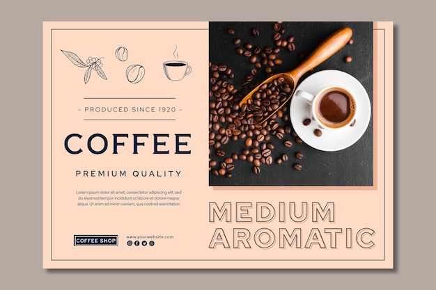 Premium quality coffee banner