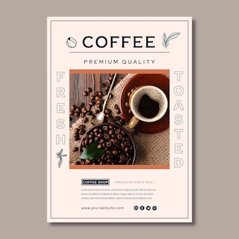 Premium quality coffee poster