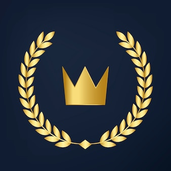 Premium quality crown icon vector