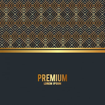 Premium quality golden frame background