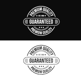 Premium quality guaranteed product stamp logo for online shop sale