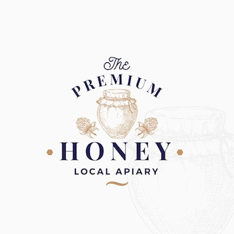 Premium quality honey logo template.