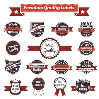 Premium quality labels and badges collection