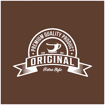 プレミアム品質のオリジナル商品、カフェ、レトロスタイル
