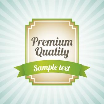 Premium quality over blue background vector illustration