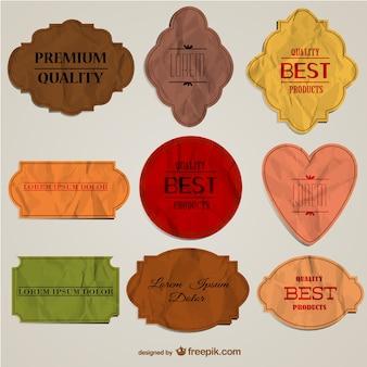 Premium quality paper badges
